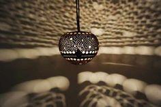 Kokosnuss-Hängelampe - Bubble Design