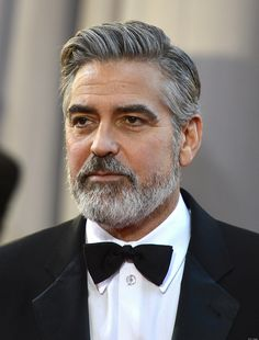 George clooney hairstyles are very popular among older men due to simplicity. Let's have a look at best george clooney haircut styles for men. Beard Styles For Men, Hair And Beard Styles, Hair Styles, George Clooney Hair, Hollywood, Salt And Pepper Beard, Thin Beard, Old Man With Beard, Growing Facial Hair