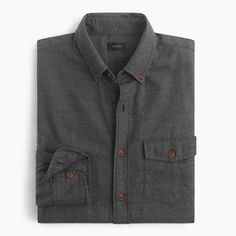 Twill shirts have a well-deserved rugged rep, but thanks to our specially brushed fabric, they're now known for having a soft side too. Destined to be a cool-weather classic, this one is accented with tough, fade-resistant Corozo nut buttons.  <ul><li>Slim fit, cut more narrowly through the body and sleeves.</li><li>Cotton.</li><li>Button-down collar.</li><li>Camp pocket.</li><li>Machine wash.</li><li>Import.</li></ul>