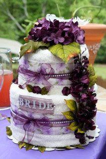 Two-Tier Wedding / Bridal Shower Towel Cake. $79.00, via Etsy.