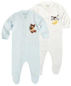 Funkoos Bear & Cow Organic Baby Sleepsuits – « Clothing Impulse