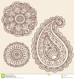 Henna Mehndi Paisley Flower Doodle Design - Download From Over 28 Million High Quality Stock Photos, Images, Vectors. Sign up for FREE today. Image: 14265885