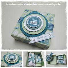 Stampin`Up!, Verpackung, Geburtstag, birthday, box, Aufgeblüht, Stempelfantasie