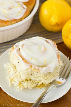 Lemon Poppy Seed Sweet Rolls | Life Made Simple