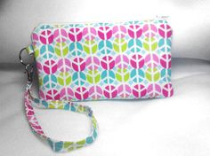 Wristlet Purse Bag Peace Sign by LayneDesign on Etsy, $10.00