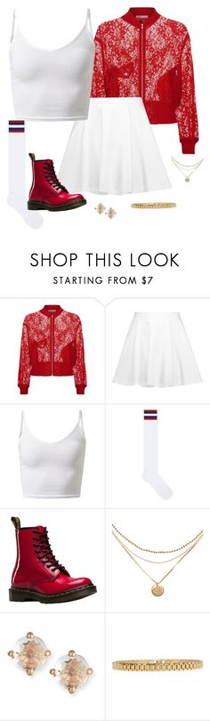 """6ixScarlet - Nayoung2"" by kierstin518 on Polyvore featuring Maje, Alice + Olivia, Gucci, Dr. Martens, Suzanne Kalan and AMBUSH"