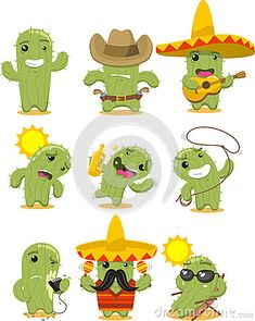Illustration about Nine different cactus cartoon illustration. Illustration of cartoons, color, image - 47053560 Kaktus Illustration, Cactus Cartoon, Cactus Clipart, Cactus Drawing, Cactus Flower, Cactus Cactus, Cacti, Christmas Ad, Ad Art