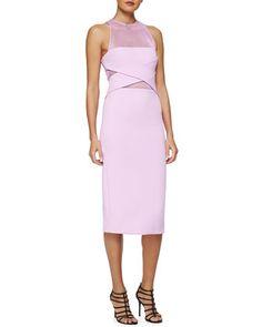 Netted Cross-Front Sheath Dress by Cushnie et Ochs at Neiman Marcus.