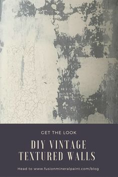 Love the look? Learn how to make your own DIY Vintage Textured Walls with a full tutorial from Fusion Mineral Paint. Click through for all the details. #diywall #wonderwalls #vintageobsessessed