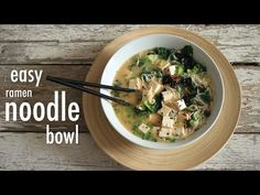 here's a quick and easy way to eat ramen noodles withlots of fresh ingredients!