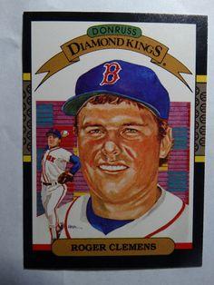 1987 Donruss #2 Roger Clemens Diamond Kings Boston Red Sox Baseball Card #Donruss #BostonRedSox