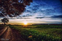 Really amazing nature landscape photograph with sunset and blue clouds shoot in HDR Blue Clouds, Long Exposure, Urban Landscape, Landscape Photographers, Hdr, Amazing Nature, Beautiful Landscapes, Most Beautiful, Sunset