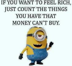 The things money can't buy ...
