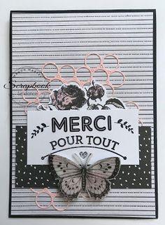 Scrapbook Tendance: Carte ... Merci pour tout