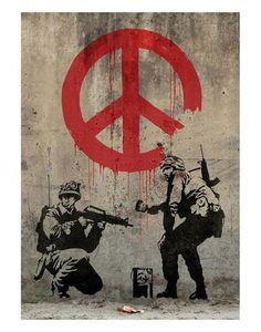 Art.fr - Reproduction d'art 'Paix' par Banksy