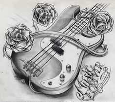 Music guitar tattoos