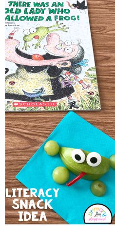 Literacy Snack Idea Frogs   Free Printable - There Was An Old Lady Who Swallowed A Frog