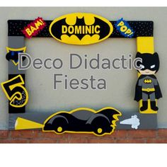 Batman marco para foto - Batman Party - Ideas of Batman Party - Batman marco para foto Lego Batman Birthday, Superhero Birthday Party, 4th Birthday Parties, Boy Birthday, Batman Party Decorations, Party Themes, Party Ideas, Batman Party Supplies, Baby Batman
