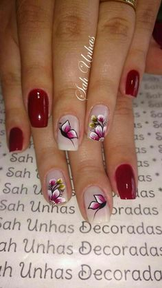 44 classy spring nail art design to try now Butterfly Nail Art, Flower Nail Art, Spring Nail Art, Spring Nails, Spring Art, Colorful Nail Designs, Nail Art Designs, Design Art, Artwork Design