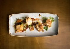Recipe: pork belly baklava: Not for the faint hearted, this pork belly baklava from Sydney's newest Greek restaurant 1821 Head Chef, David Tsirekas, may take time to prepare but it'll be the hit of your next dinner party with its unique, tasty twist on the Greek classic.