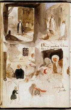 7 Artist Journals filled with sketches & studies Travel Sketchbook, Sketchbook Drawings, Artist Sketchbook, Art Sketches, Watercolor Journal, Watercolor Sketch, Romanticism Artists, Graphic Novel, Art Du Croquis