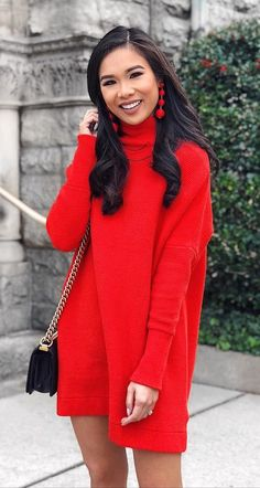 a731b6da899  winter  outfits women s red turtleneck sweater. Click To Shop This Look.  Casual