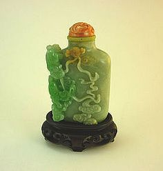 19 th Century Chinese Jadeite Snuff Bottle