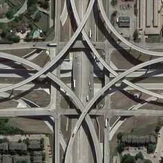 Infrastructure Architecture, Futuristic Architecture, City Photography, Aerial Photography, Warsaw City, Highway Road, Casas Containers, Grand Prairie, Building Art