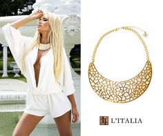 Make a statement in our BCBGMAXAZRIA Filigree Gold Plate Necklace: http://litalia.com/jewelry/necklaces/bcbgmaxazria-filigree-plate-gold-necklace.html?utm_content=buffer8c5a7&utm_medium=social&utm_source=pinterest.com&utm_campaign=buffer #LItaliaStyle