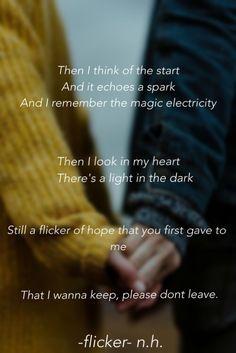 Flicker lyrics lock screen - Niall Horan, Flicker lyrics