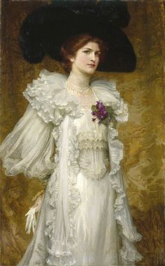"""My Lady Fair"" -- 1903 -- Frank Dicksee -- British -- Oil on canvas -- Manchester Art Gallery, UK Frank Dicksee, Gustav Klimt, Portrait Art, Portraits, Manchester Art, City Gallery, English Artists, My Fair Lady, Victorian Art"