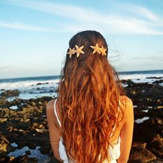 Double Starfish Mermaid Barrette