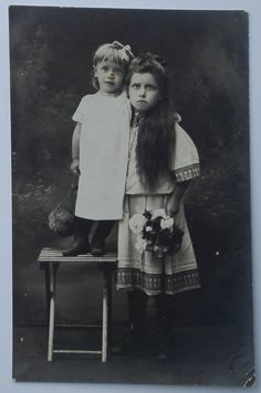 CREEPY Cabinet portrait of two cute Russian by PhotoMemoriesLane