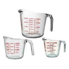 Shop for Anchor Hocking Open Handle Measuring Cup Set. Get free delivery On EVERYTHING* Overstock - Your Online Kitchen & Dining Shop! Anchor Glass, Glass Measuring Cup, Kitchen Measuring Tools, Canadian Tire, Anchor Hocking, Kitchen Utensils, Kitchen Appliances, Cooking Utensils, Cooking Tools