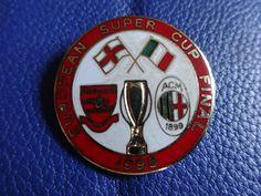 ARSENAL AC MILAN SUPER CUP FINAL 1995 LARGE ROUND BADGE