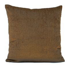 """Dark Gold color Velour Pillow Cover, 18"""" x 18"""", Decorative throw Pillow Cover, Modern Pillow, Accent Pillow. Visit https://www.etsy.com/shop/SHPillows?ref=l2-shopheader-name to see the rest of our collection.  Thank you!!"""