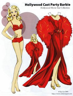 Hollywood Barbie Paper doll