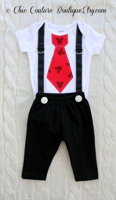 Cumpleaños Mickey Mouse negro pantalones w por ChicCoutureBoutique