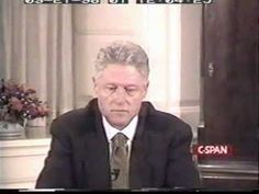 Bill Clinton testifying regarding Monica Lewinsky accusations.