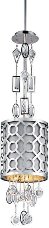 Symmetry Polished Nickel 7-Inch-W Maxim Mini Pendant -