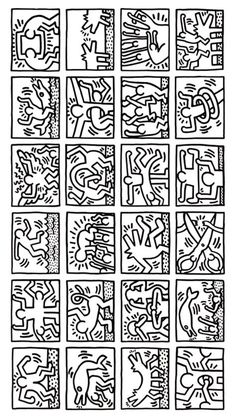Pattern Coloring Pages, Colouring Pages, Keith Haring Art, Jr Art, Hippie Art, Expressive Art, Arte Pop, Collaborative Art, Art History