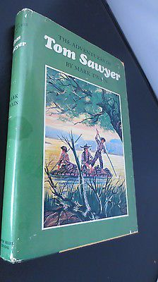 Vintage-1955-The-Adventures-of-Tom-Sawyer-Hardcover-with-Jacket-Mark-Twain