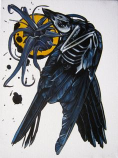 Anatomical Crow II by Primer on Etsy - http://www.etsy.com/listing/97881846/anatomical-crow-ii?