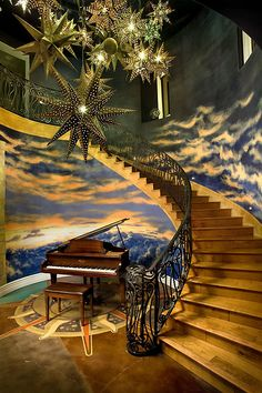 Great stairs and a fantastic mural!   ..rh