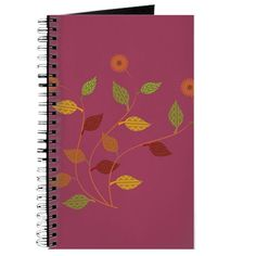 Bright Magenta Orange Daisies Floral  Journal #flowers #gardener #gift $9.99