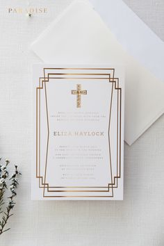 Boy or Girl Golden II Baptism Invitations, First Communion Invitations, Baptism Invitations, Baptism Stationery, Paradise Invitations First Communion Invitations, Baptism Invitations, Pink Invitations, Mercedes World, Confirmation, Christening, Boy Or Girl, Leo, Paradise