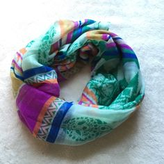 NWT Beauty Con Scarf NWT Beauty Con Scarf. Lightweight and cute pattern (this is not a circle scarf) Beauty Con Accessories Scarves & Wraps