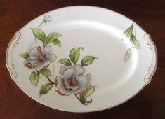 Vintage Roselyn China Dogwood Blossom Oval Platter