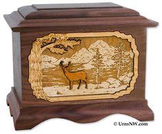 Urns Northwest  - Deer Urn (http://urnsnw.com/products/Deer-Urn.html)