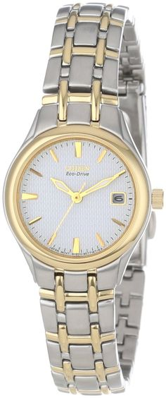 Citizen Women's EW1264-50A Eco-Drive Silhouette Two-Tone Watch